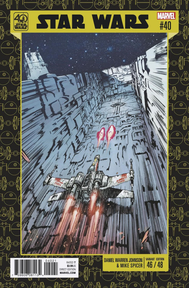 Star Wars #40 (Johnson 40th Anniversary Cover)