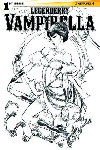 Legenderry: Vampirella #1 (50 Copy Benitez B&W Cover)