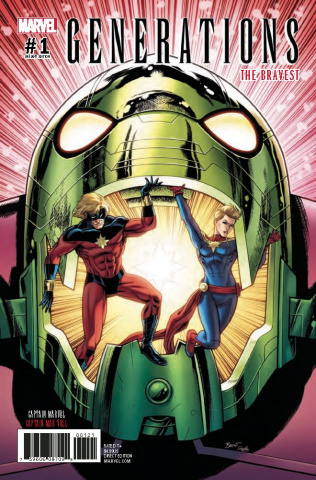 Generations: Captain Marvel & Captain Mar-Vell #1 (Schoonover Cover)