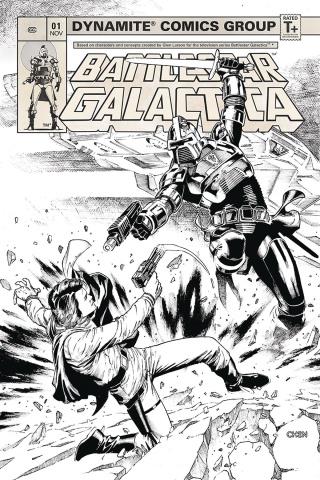 Battlestar Galactica Classic #1 (20 Copy Chen B&W Cover)