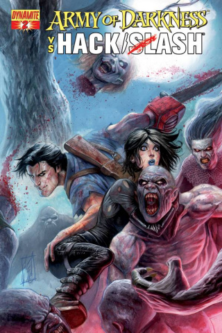 Army of Darkness vs. Hack/Slash #2 (Caselli Cover)