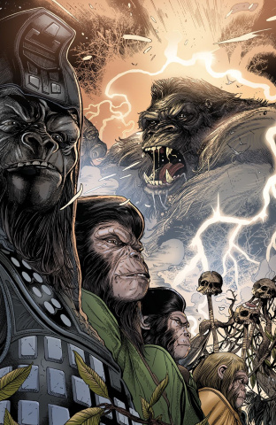 Kong on The Planet of the Apes #4 (Connecting Magno Cover)