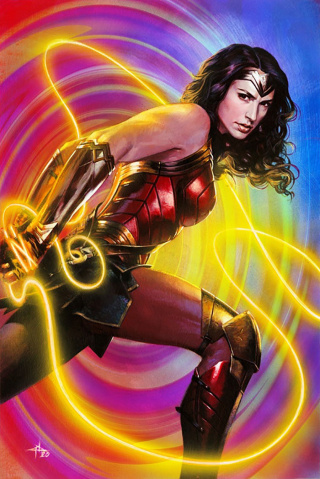 Superman #28 (Gabriele Dell'Otto Wonder Woman 1984 Card Stock Cover)