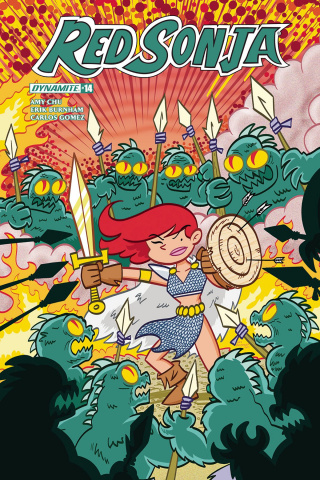 Red Sonja #14 (Baltazar Subscription Cover)