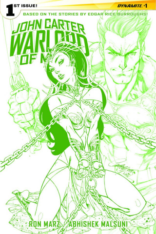 John Carter: Warlord of Mars #1 (Campbell Martian Green Cover)