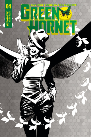 Green Hornet #4 (10 Copy McKone B&W Cover)