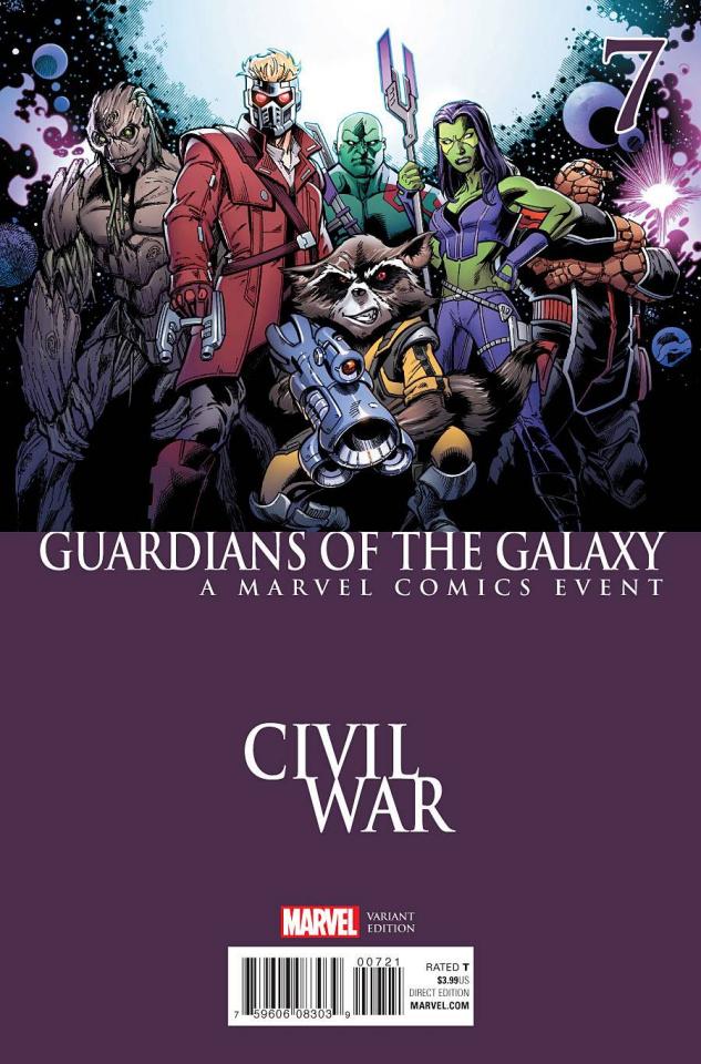 Guardians of the Galaxy #7 (Bagley Civil War Cover)