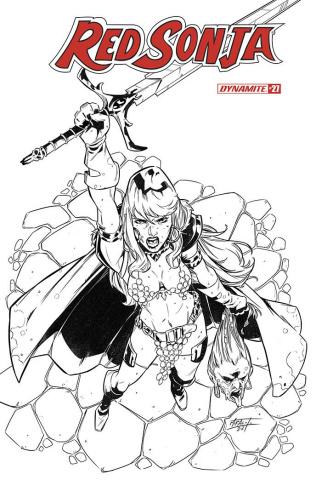 Red Sonja #27 (Premium Miracolo B&W Cover)