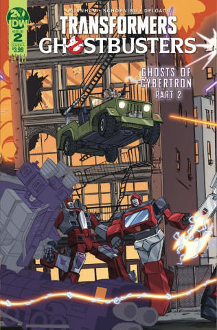 The Transformers / Ghostbusters #2 (Schoening Cover)