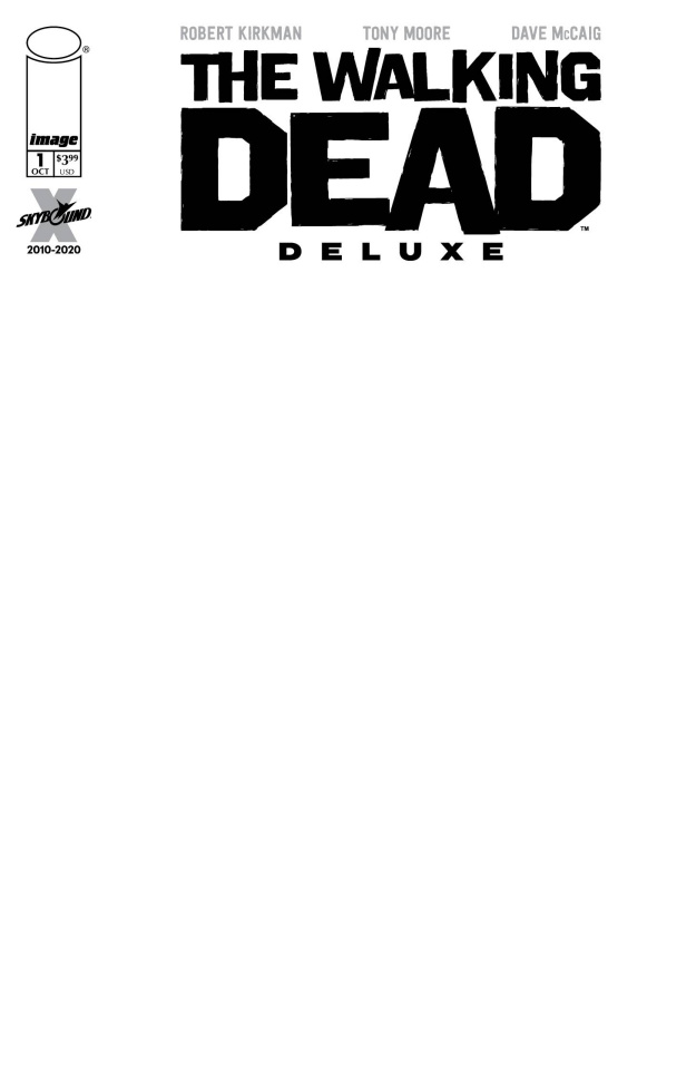 The Walking Dead Deluxe #1 (Blank Sketch Cover)