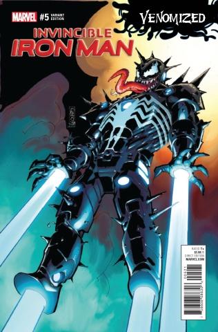 Invincible Iron Man #5 (Leonardi Venomized Cover)