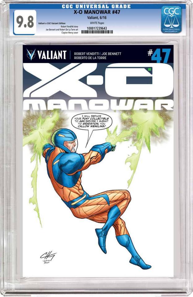 X-O Manowar #47 (CGC Replica Henry Cover)