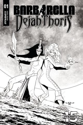 Barbarella / Dejah Thoris #1 (50 Copy Qualano B&W Cover)