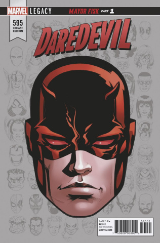Daredevil #595 (McKone Legacy Headshot Cover)