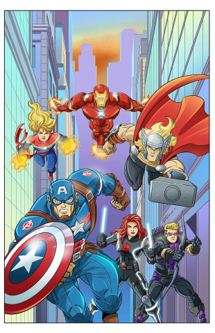 Marvel Action: Avengers #8 (10 Copy Brizuela Cover)