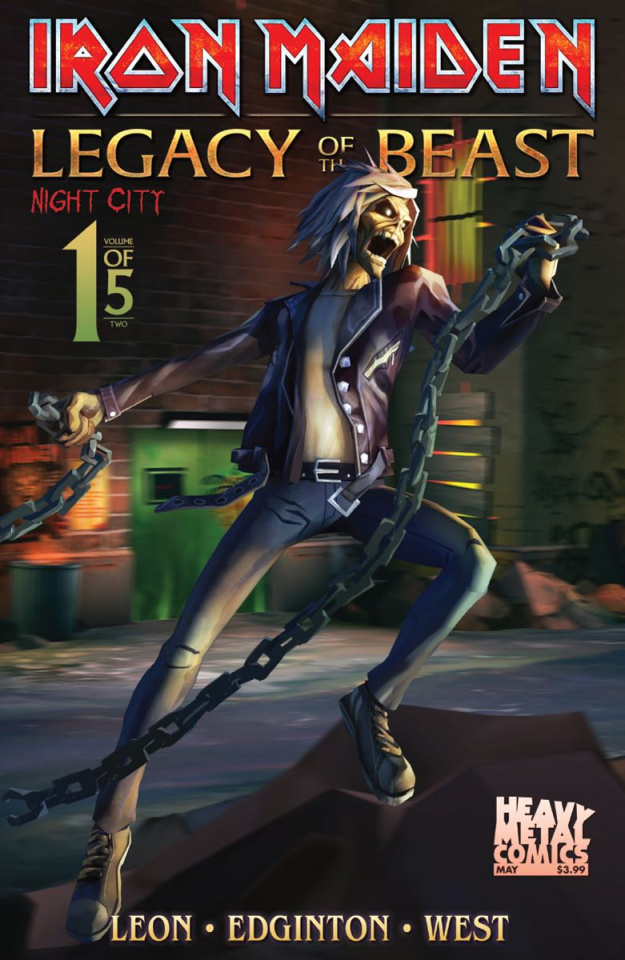 Iron Maiden: Legacy of the Beast - Night City #1 (Casas Cover)