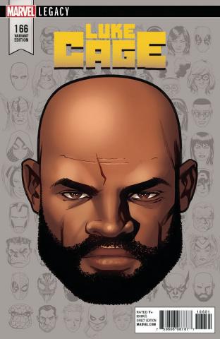 Luke Cage #166 (McKone Legacy Headshot Cover)