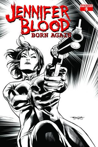 Jennifer Blood: Born Again #5 (10 Copy Segovia B&W Cover)