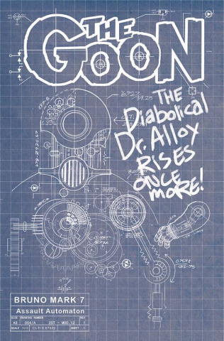 The Goon #13 (Cardstock Bruno Blueprint Cover)
