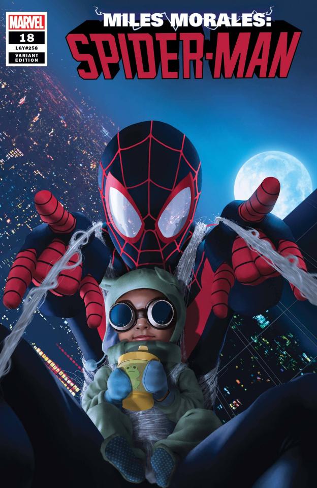 Miles Morales: Spider-Man #18 (Rahzzah Baby Morales Cover)