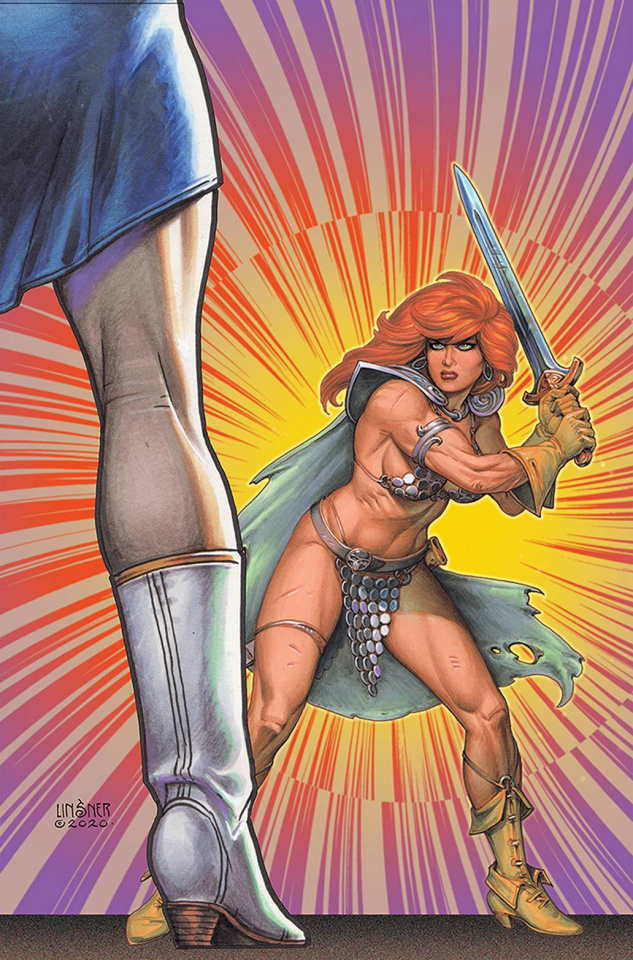 Red Sonja: The Superpowers #3 (Linsner Virgin Cover)