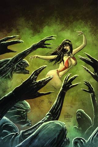 Aliens / Vampirella #3 (Rare Hardman Virgin Cover)