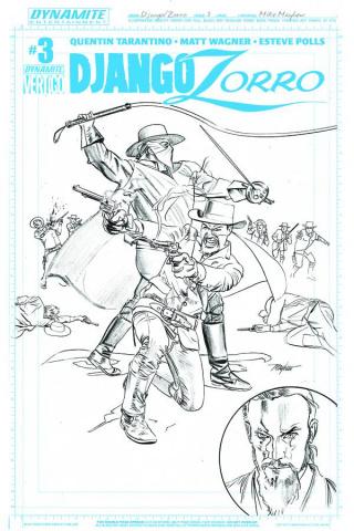 Django / Zorro #3 (15 Copy Mayhew Artboard Cover)