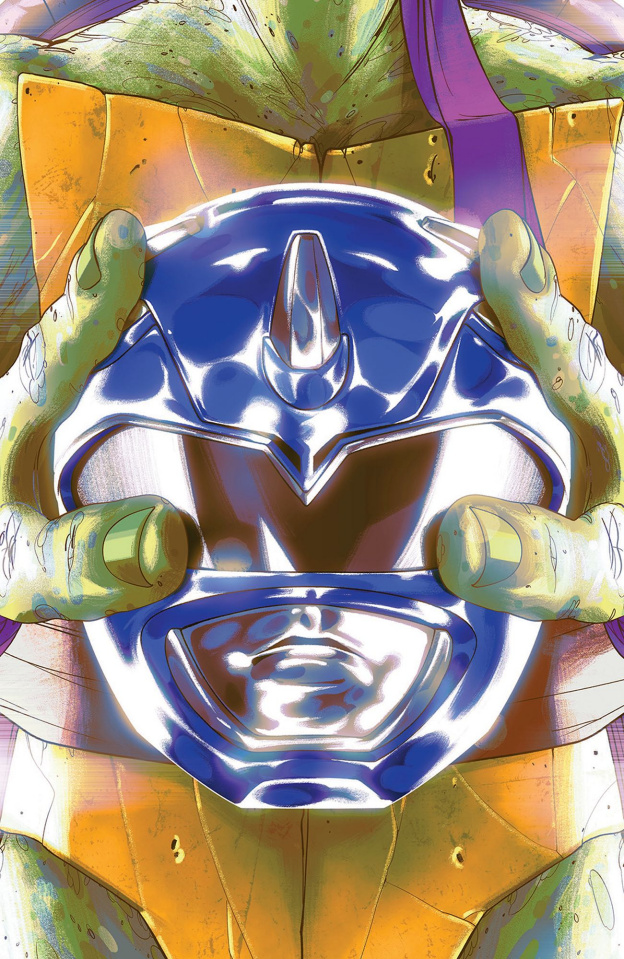 Power Rangers / Teenage Mutant Ninja Turtles #3 (Leo Montes Cover)