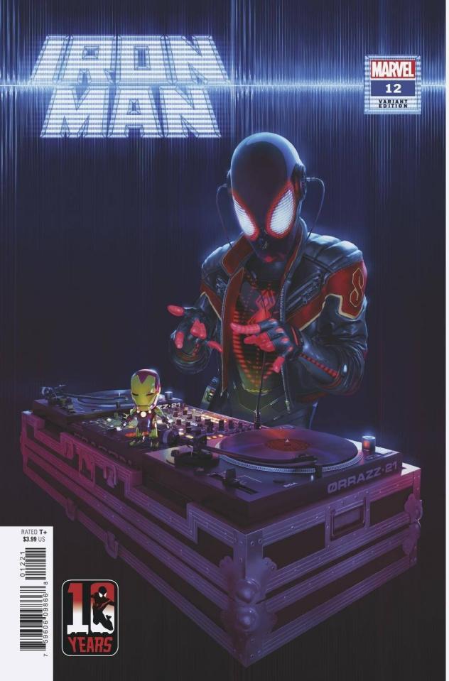 Iron Man #12 (Rahzzah Miles Morales 10th Anniversary Cover)