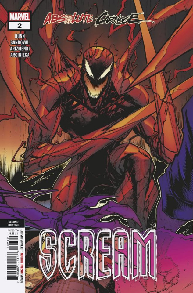 Absolute Carnage: Scream #2 (Sandoval 2nd Printing)