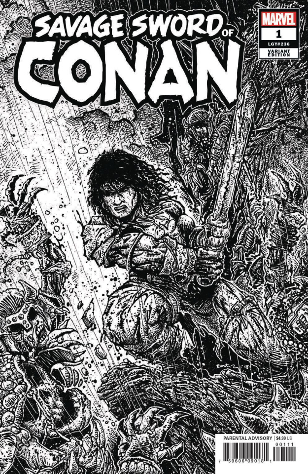 The Savage Sword of Conan #1 (Eastman B&W Cover)