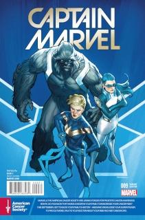Captain Marvel #9 (Cancer Awareness Cover)