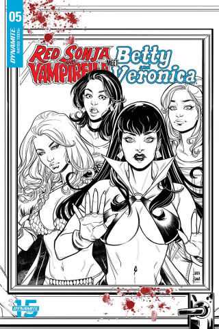 Red Sonja and Vampirella Meet Betty and Veronica #5 (20 Copy Braga B&W Cover)