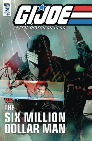 G.I. Joe vs. The Six Million Dollar Man #2 (Sayger Cover)