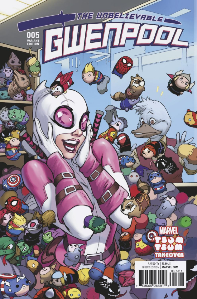 Gwenpool #5 (Luppachino Tsum Tsum Cover)
