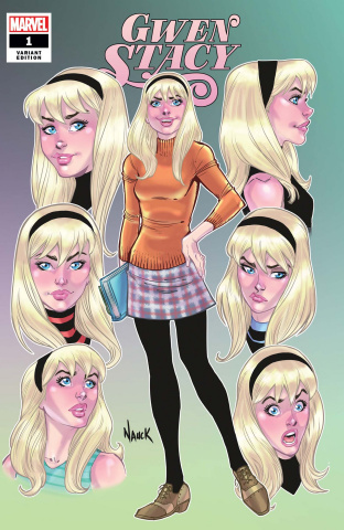 Gwen Stacy #1 (Nauck Faces of Gwen Cover)