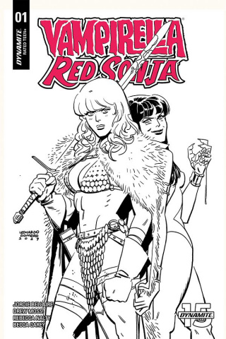 Vampirella / Red Sonja #1 (40 Copy Romero & Bellaire B&W Cover)