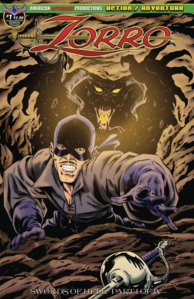 Zorro: Swords of Hell #1 (Gallant Demon Fury Cover)