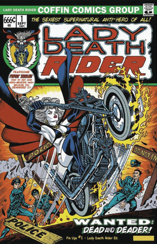 Lady Death: Pin Ups #1 (Lady Death Rider Cover)