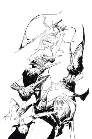 Vampirella / Red Sonja #10 (25 Copy Lee B&W Virgin Cover)
