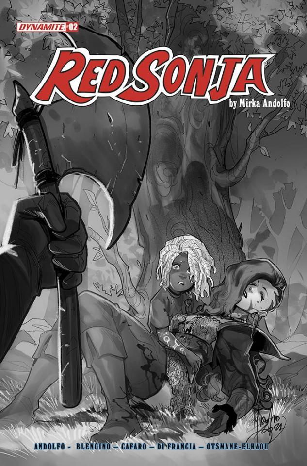 Red Sonja #2 (10 Copy Andolfo B&W Cover)