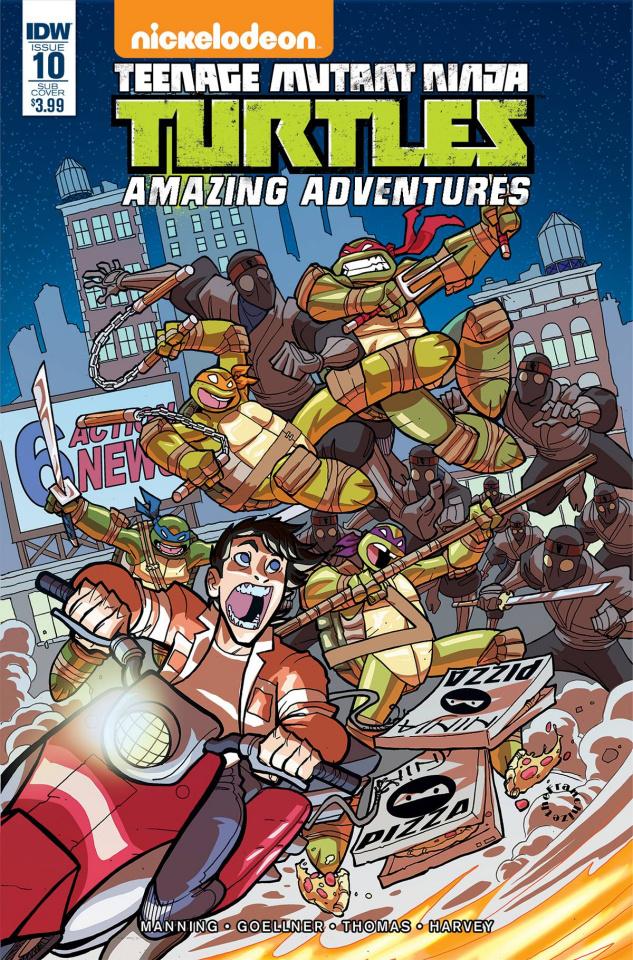 Teenage Mutant Ninja Turtles: Amazing Adventures #10 (Subscription Cover)