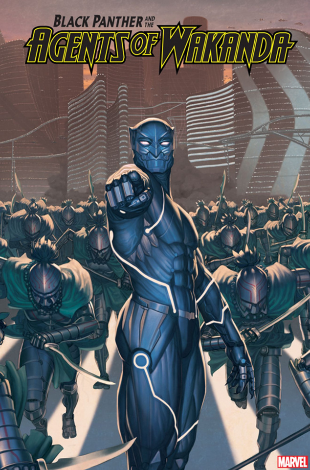 Black Panther and the Agents of Wakanda #3 (Rock He Kim 2099 Cover)