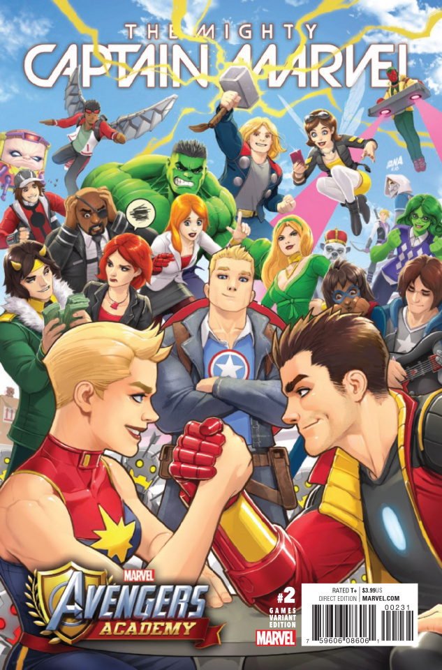 The Mighty Captain Marvel #2 (Video Game Cover)