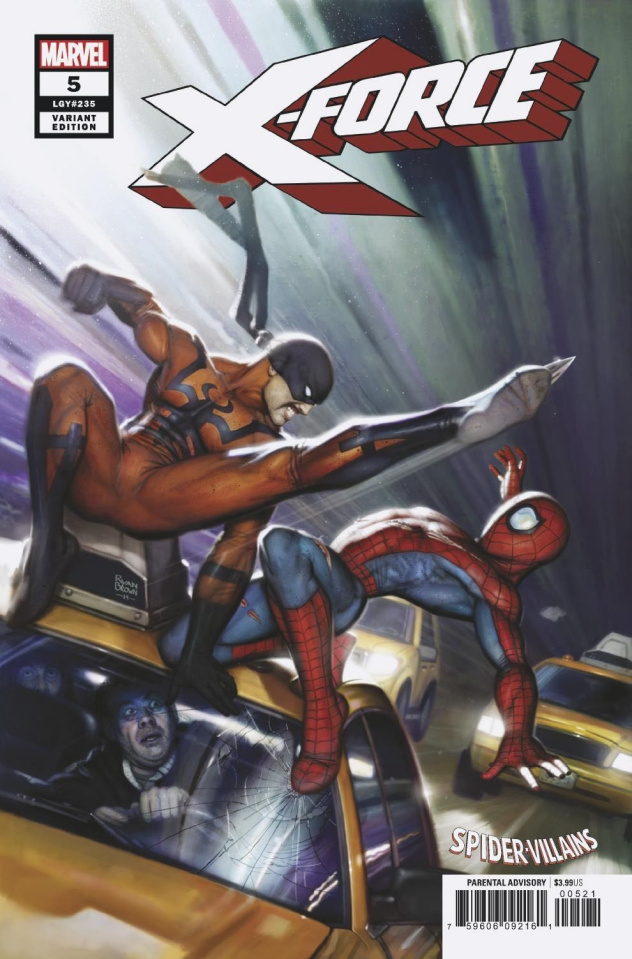 X-Force #5 (Brown Spider-Man Villains Cover)