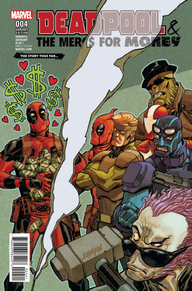 Deadpool and the Mercs For Money #4 (Story Thus Far Cover)