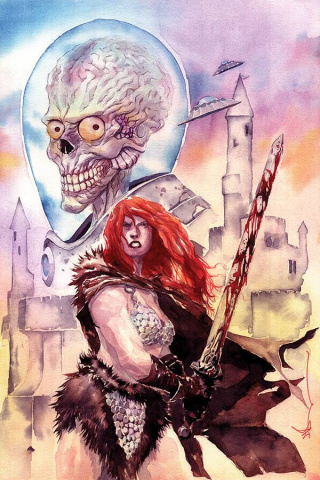 Mars Attacks / Red Sonja #1 (Nguyen Virgin Cover)