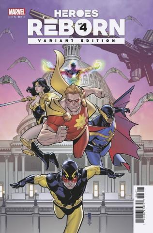 Heroes Reborn #4 (Medina Squadron Supreme Cover)
