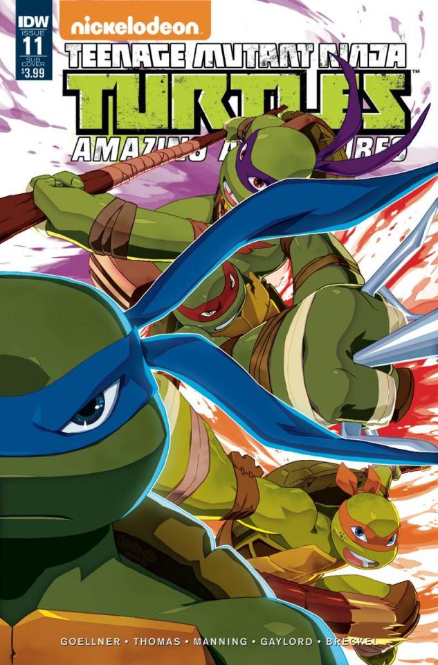 Teenage Mutant Ninja Turtles: Amazing Adventures #11 (Subscription Cover)