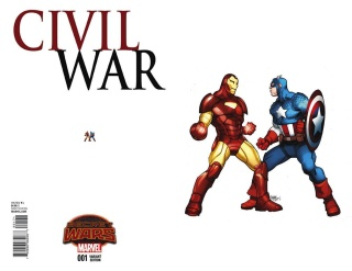 Civil War #1 (Ant-Sized Variant Cover)